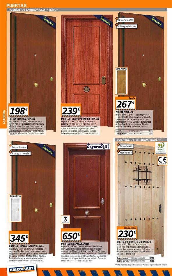 Puertas de interior bricomart gallery of catlogo for Puertas interior bricomart